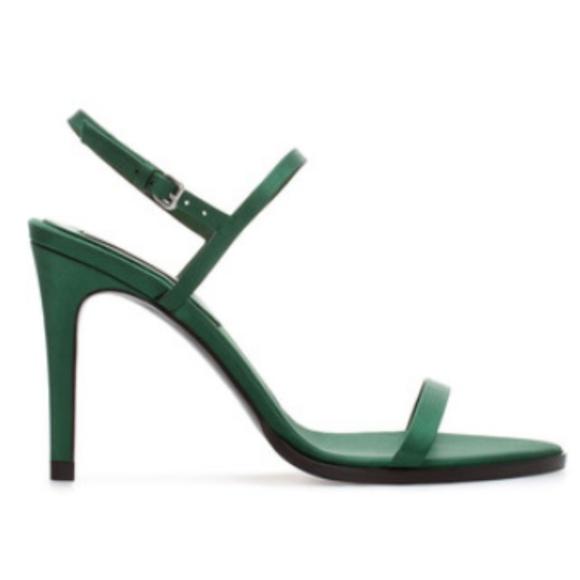Platform Heel Sandal Emerald Green